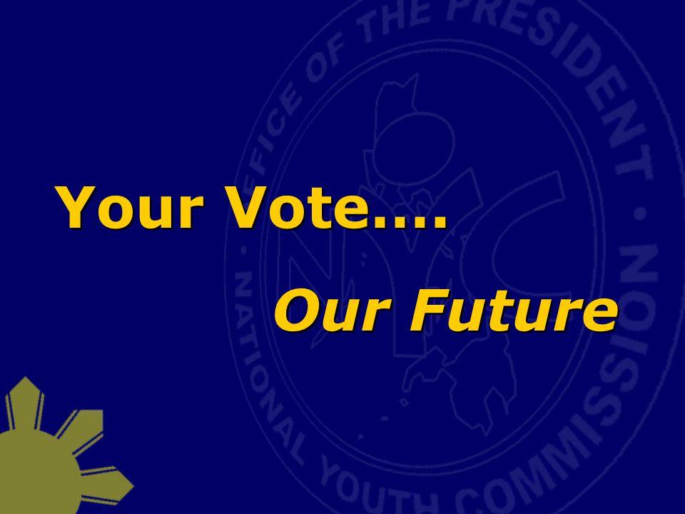 Your Vote…. Our Future Your Vote…. Our Future