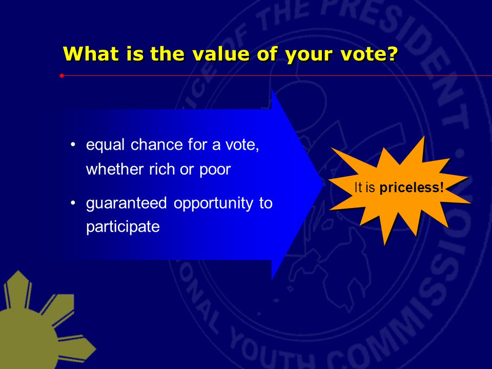 What is the value of your vote.