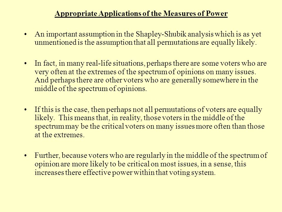 Minimal Winning Coalitions – 3 Voter Systems DictatorClique Consensus Chair Veto Majority