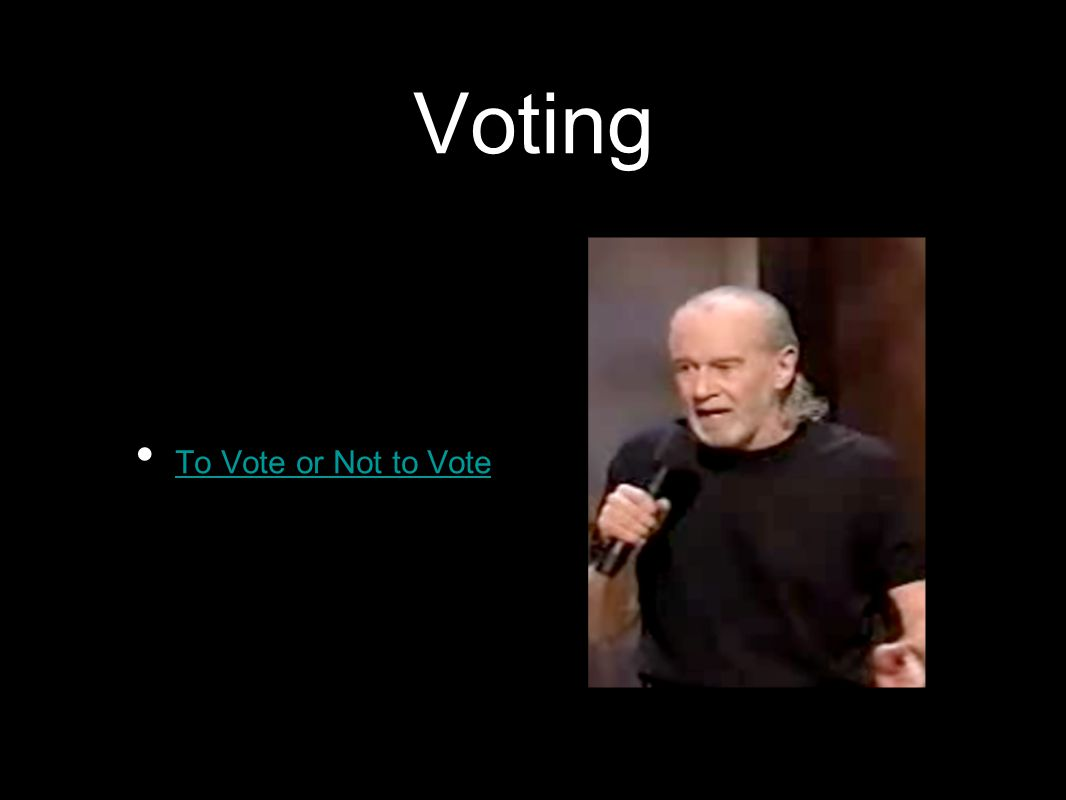 Voting To Vote or Not to Vote