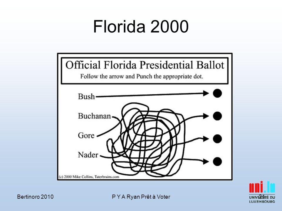 Florida 2000 Bertinoro 2010P Y A Ryan Prêt à Voter21
