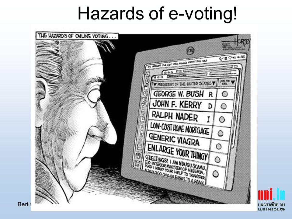 Bertinoro 2010P Y A Ryan Prêt à Voter9 Hazards of e-voting!