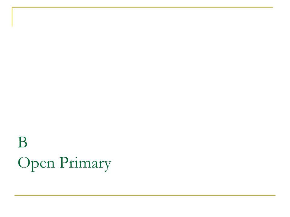 B Open Primary