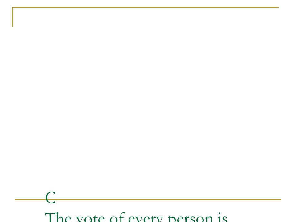 C The vote of every person is important