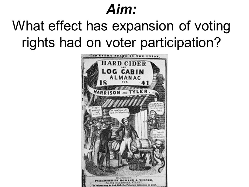 Aim: What effect has expansion of voting rights had on voter participation