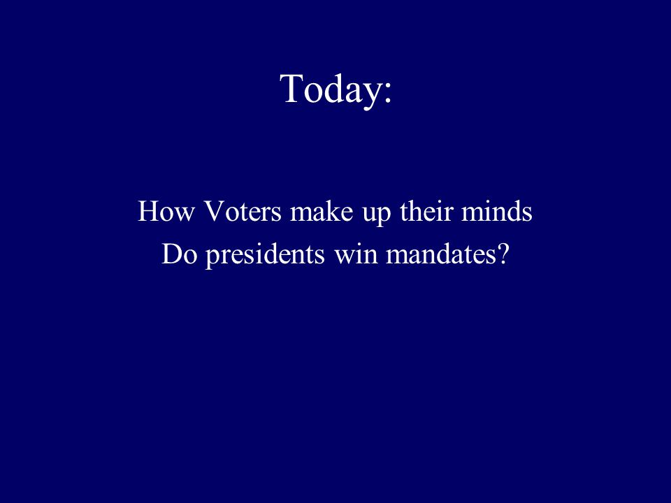 Freewrite Do you think elections serve as a check on presidential power for a first term president.