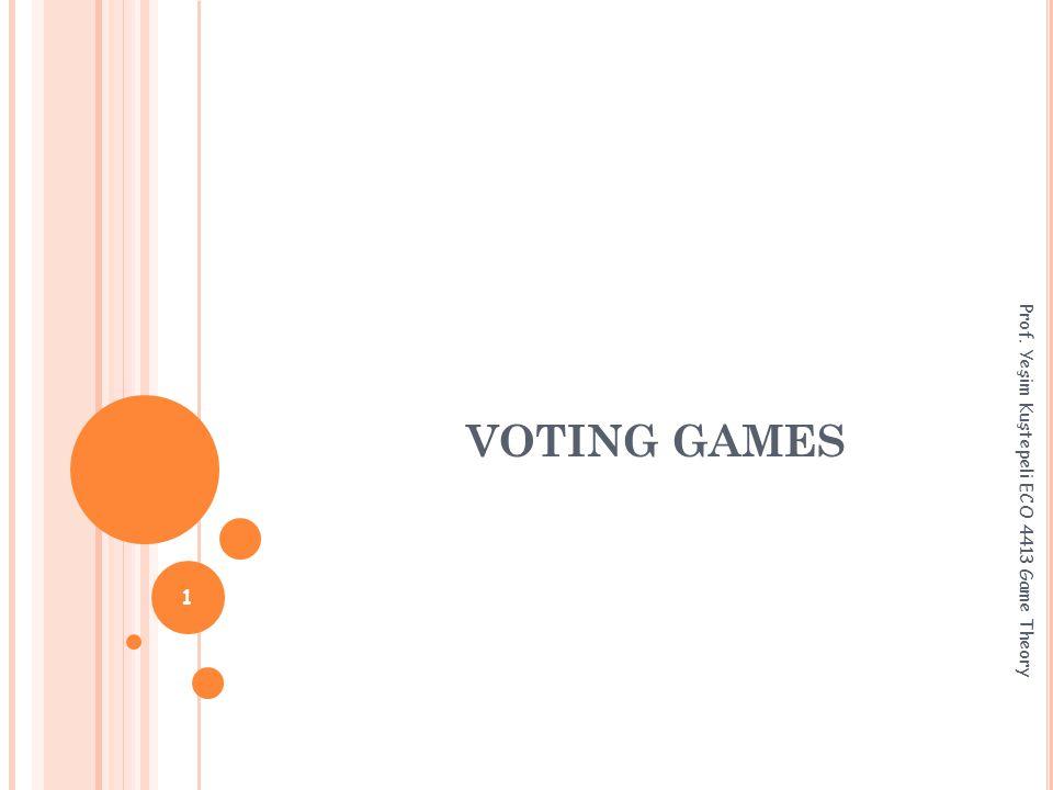 VOTING GAMES Prof. Yeşim Kuştepeli ECO 4413 Game Theory 1