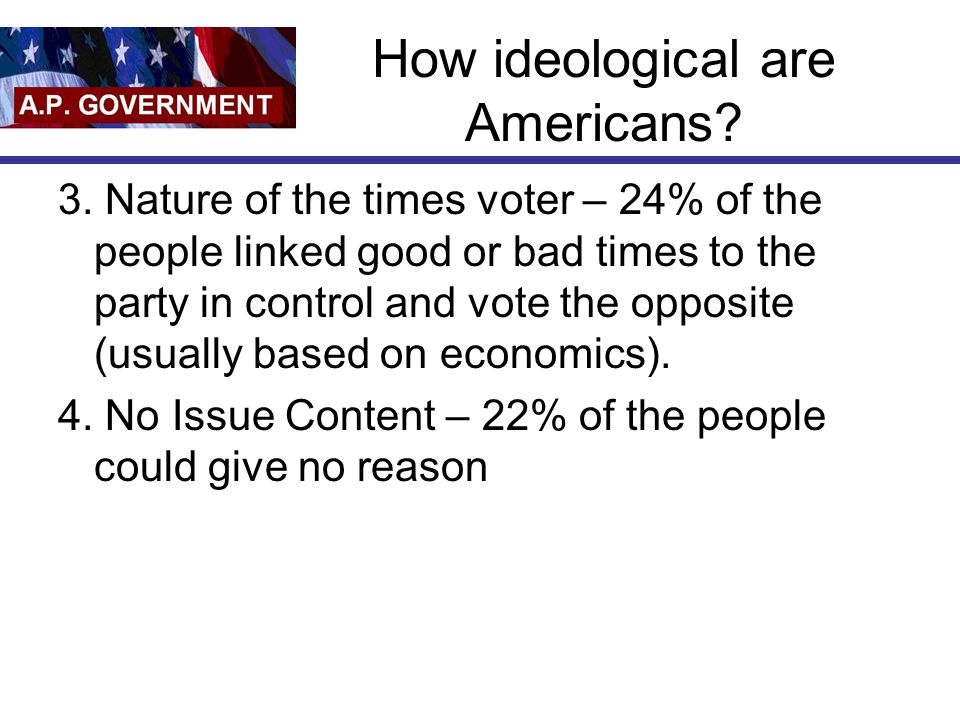How ideological are Americans. 3.