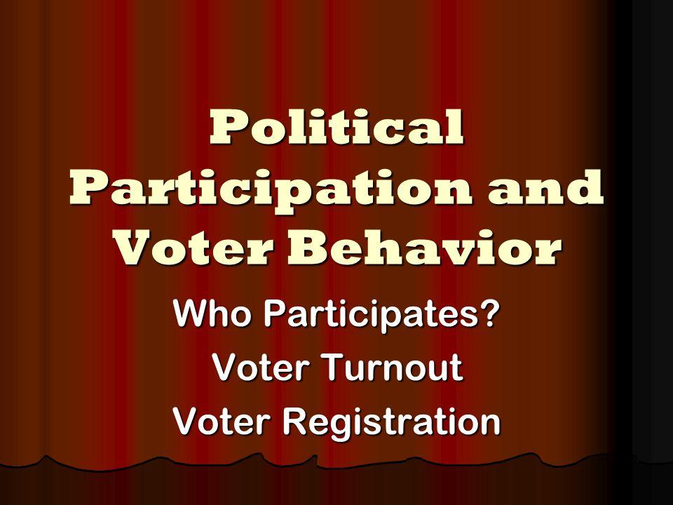 Who Participates.