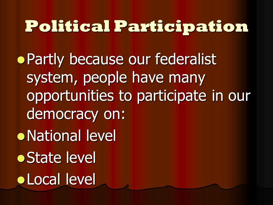 Who Participates.1. Education 1. Education 2. Religious Involvement 2.