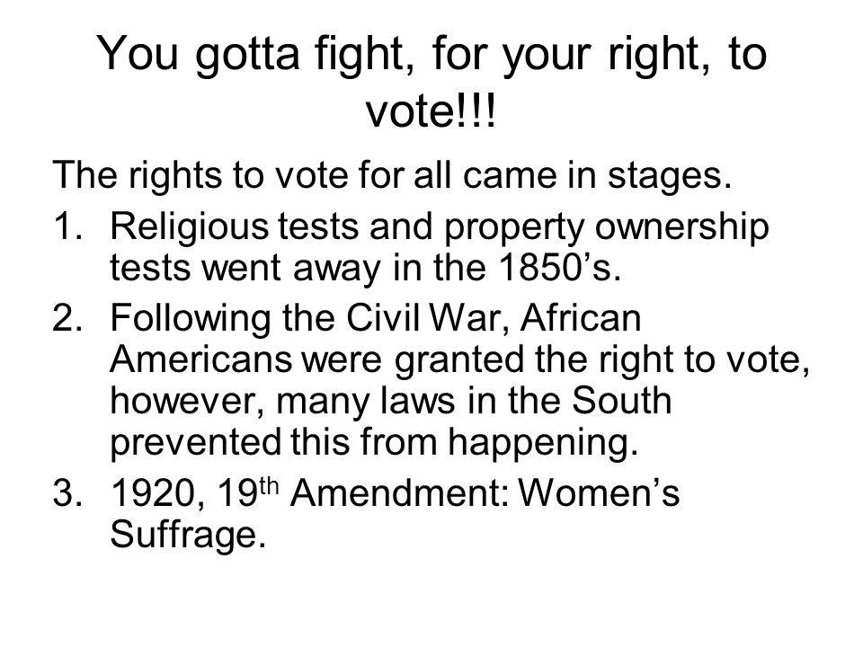4.Civil Rights era of the 1960's.