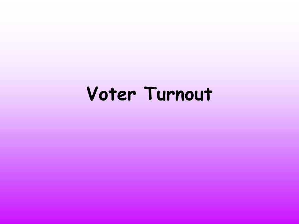 Lesson Objectives I will get the opportunity to analyse election data in relation to voter turnout and age I will get the opportunity to express my views on whether young people should be forced to vote