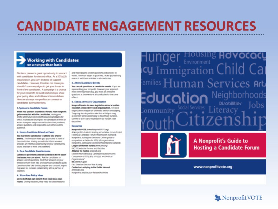 CANDIDATE ENGAGEMENT RESOURCES
