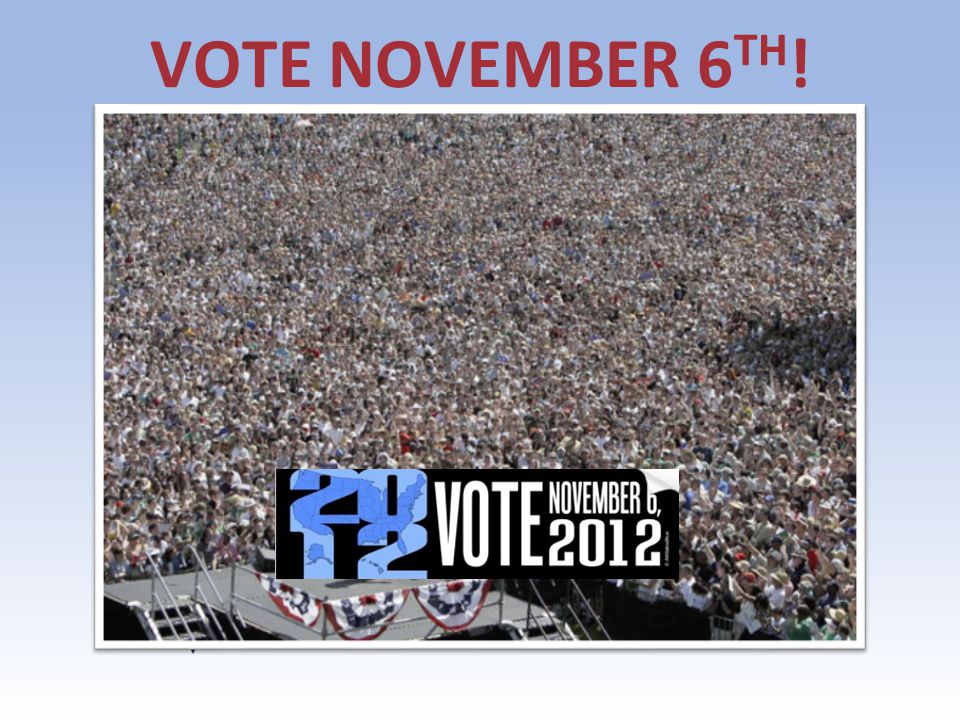 VOTE NOVEMBER 6 TH ! Agenda