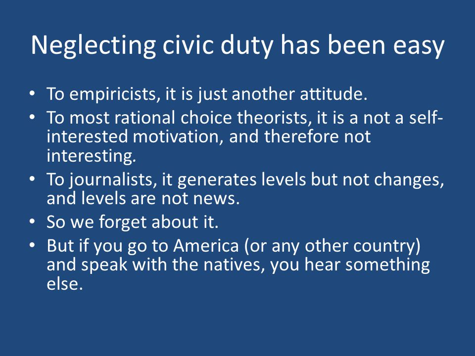 What do the citizens say.