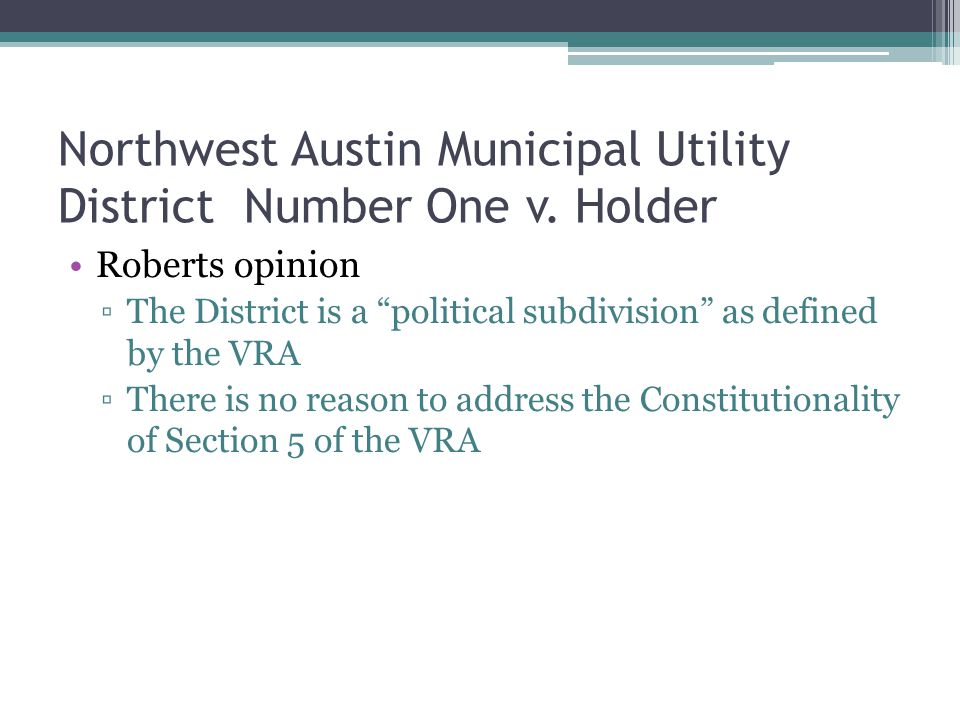 Northwest Austin Municipal Utility District Number One v.