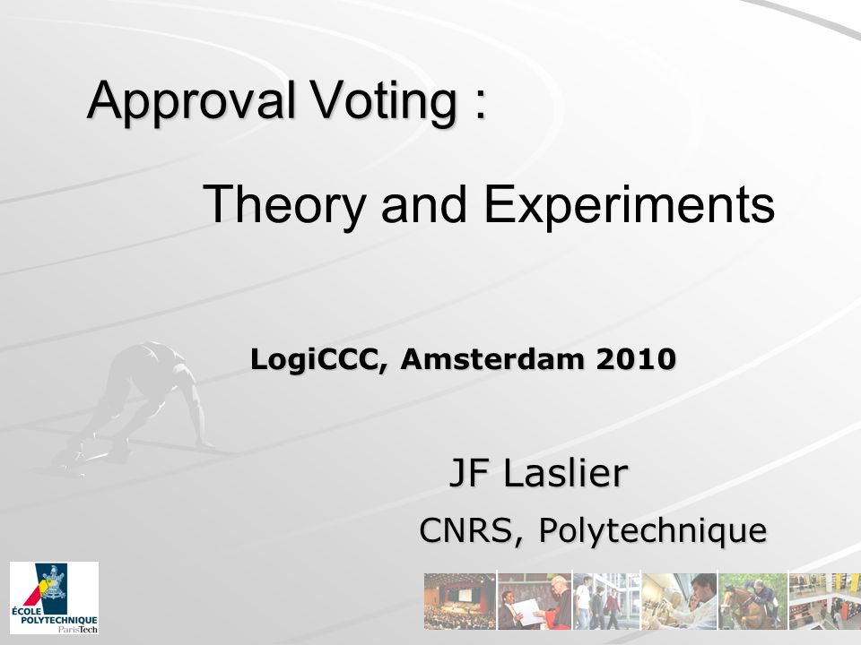 Strategic voting: the Leader rule (5/5) Equilibrium result if there is no Condorcet winner : There is no pure equilibrium.