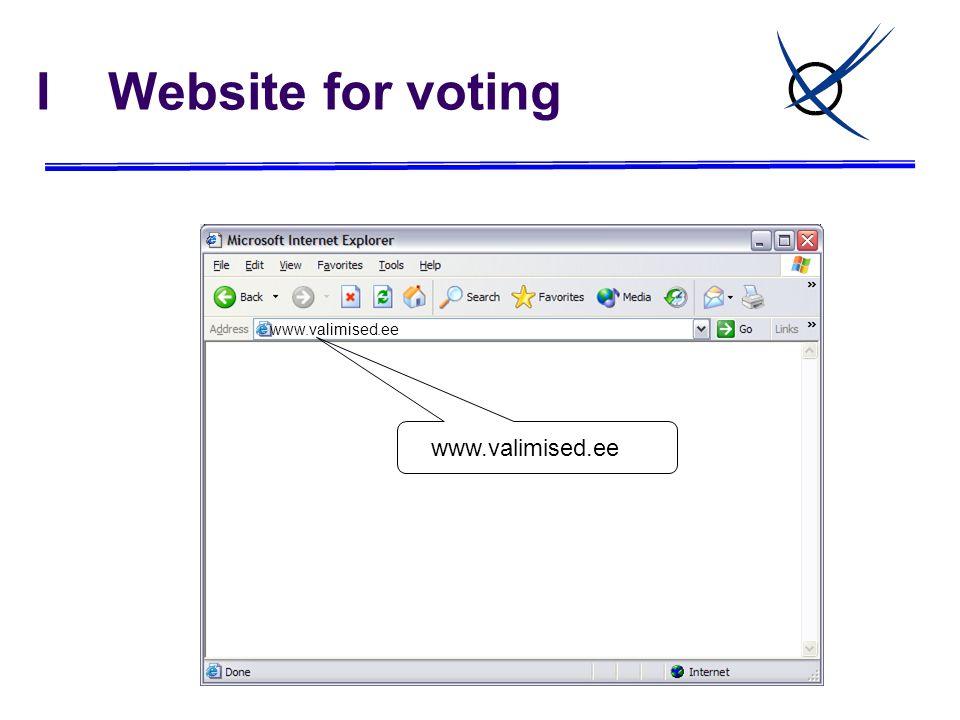I Website for voting www.valimised.ee www.valimised.ee
