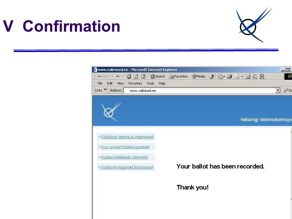 V Confirmation
