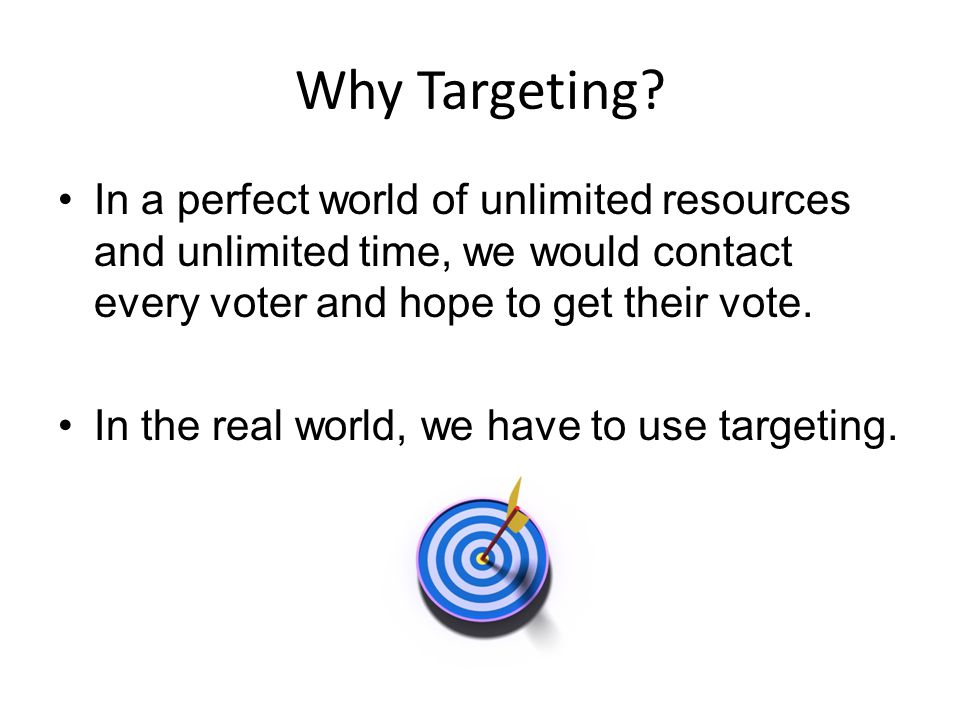 Why Targeting.