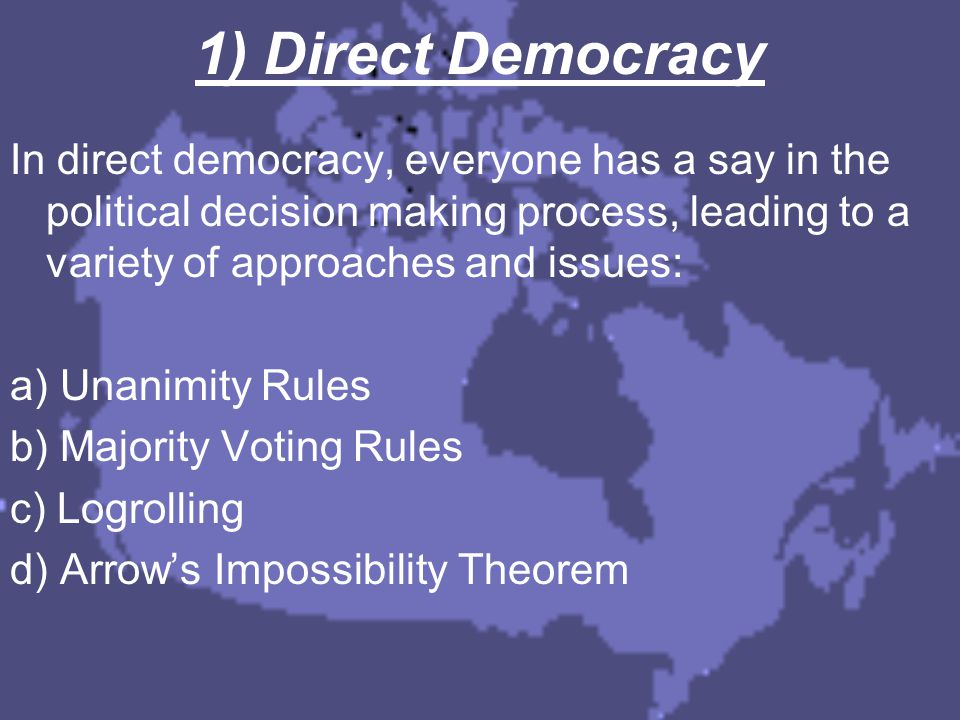 Median Voter Theorem MEDIAN VOTER – voter who's preferences lie in the middle of all voter's preferences MEDIAN VOTER THEOREM – as long as all preferences are single peaked, the outcome of majority voting reflects the preferences of the median voter