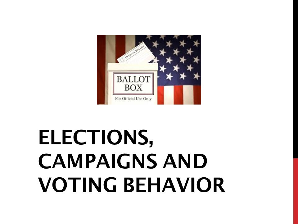 ELECTIONS, CAMPAIGNS AND VOTING BEHAVIOR