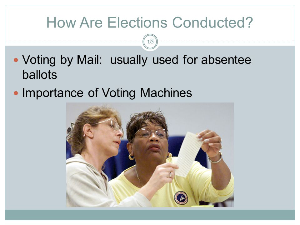 How Are Elections Conducted.