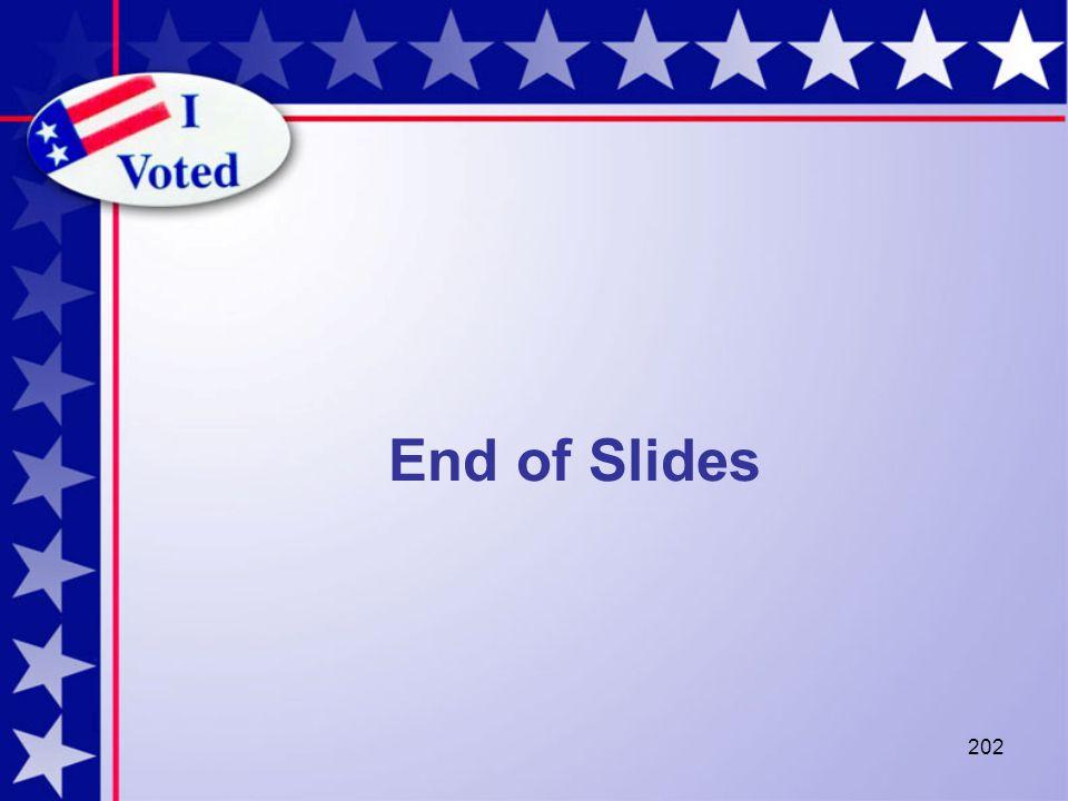 202 End of Slides