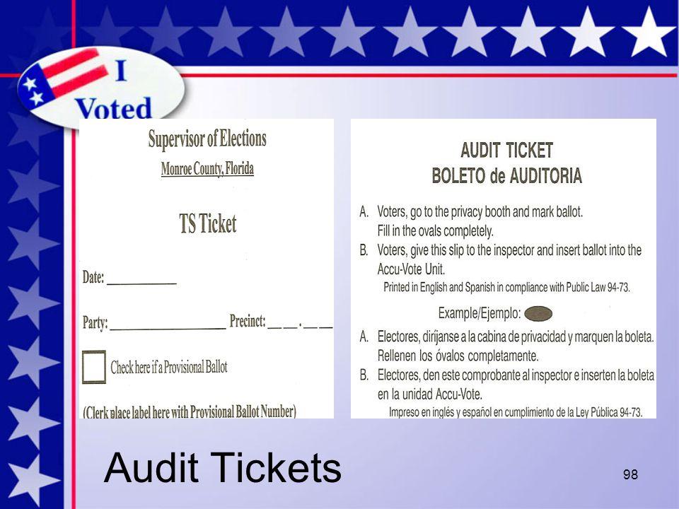 98 Audit Tickets
