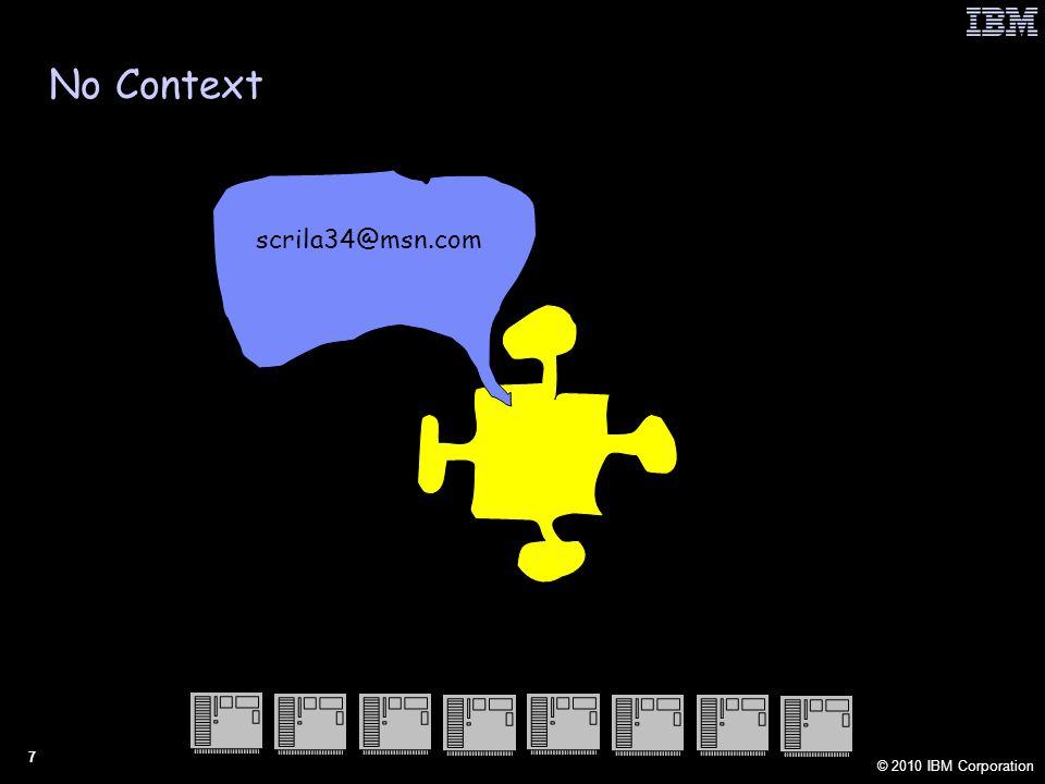 © 2010 IBM Corporation 7 scrila34@msn.com No Context