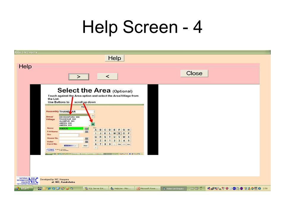 Help Screen - 4