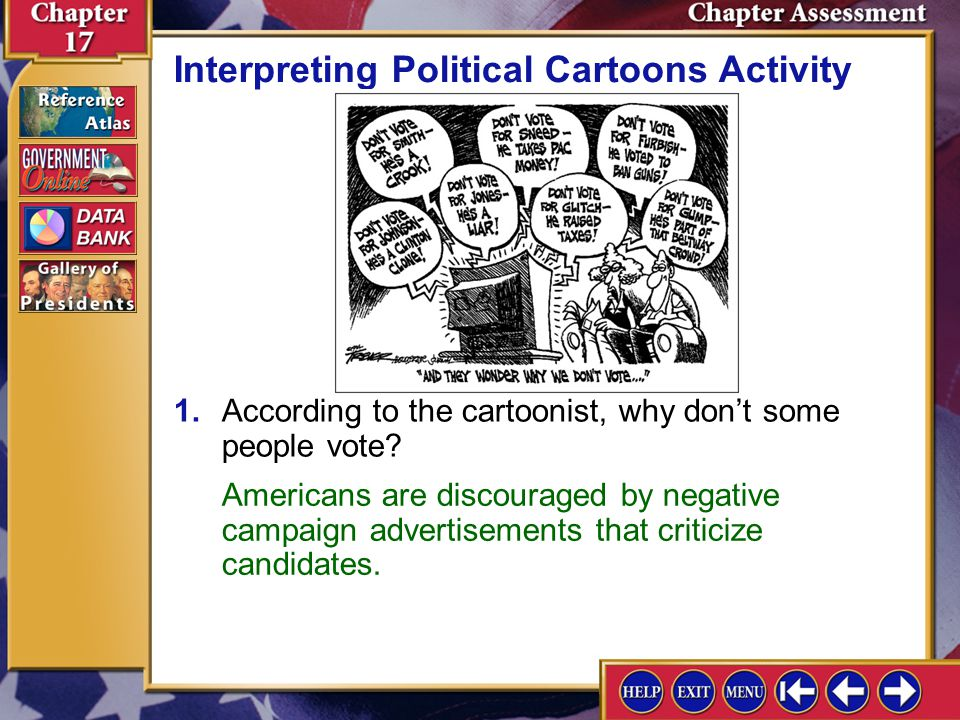 Chapter Assessment 12 3.Making Inferences Use a graphic organizer like the one below to list three ways of increasing voter turnout. Critical Thinking