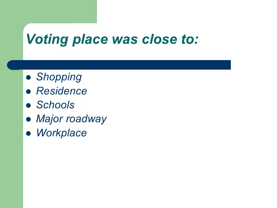 Conclusions, continued Non-habitual voters report a more positive voting experience at EDVCs over precinct voting places.