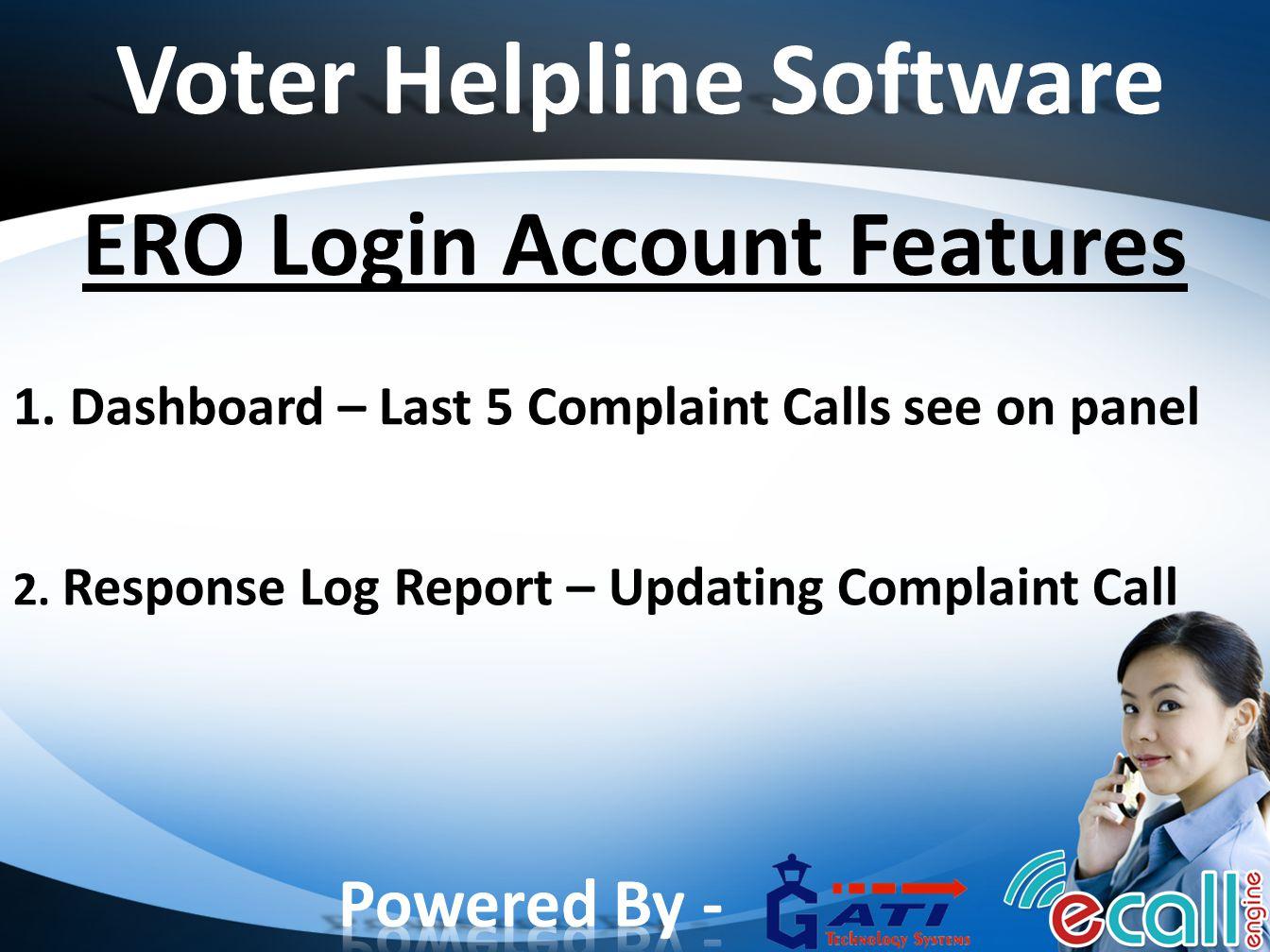Voter Helpline Software ERO Login Account Features 1.