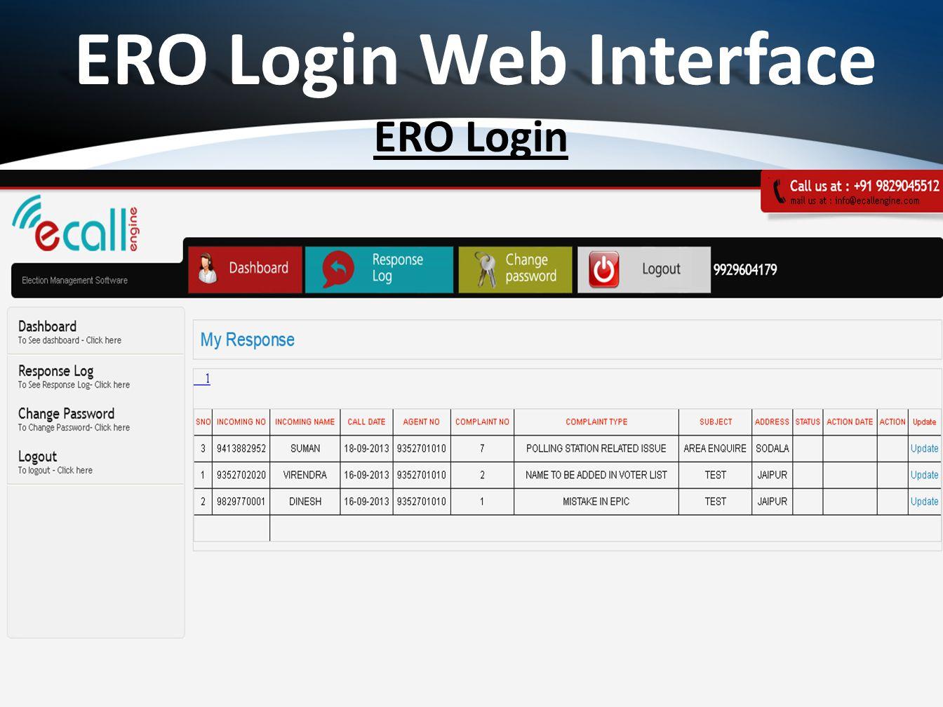 ERO Login ERO Login Web Interface