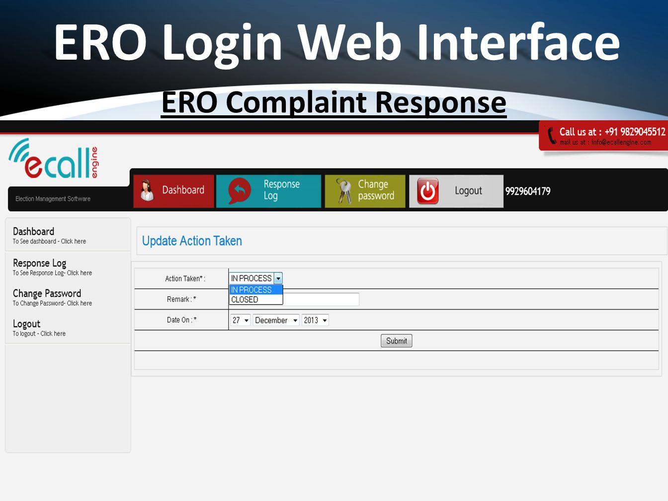 ERO Complaint Response