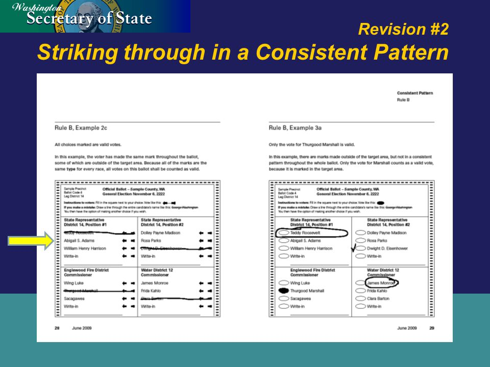Revision #2 Striking through in a Consistent Pattern
