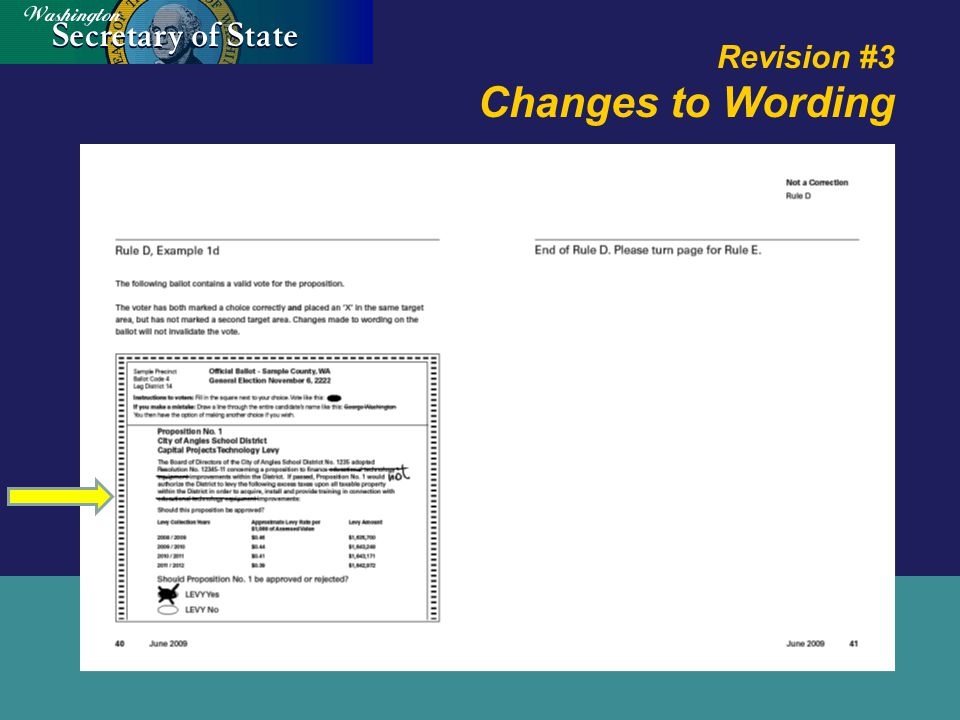 Revision #3 Changes to Wording