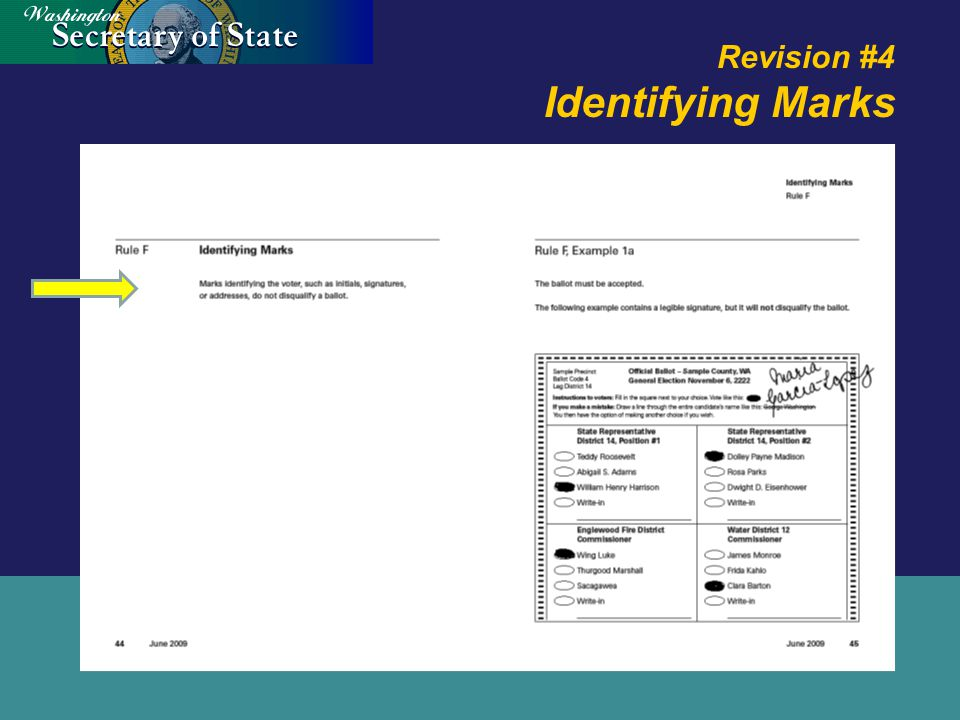 Revision #4 Identifying Marks