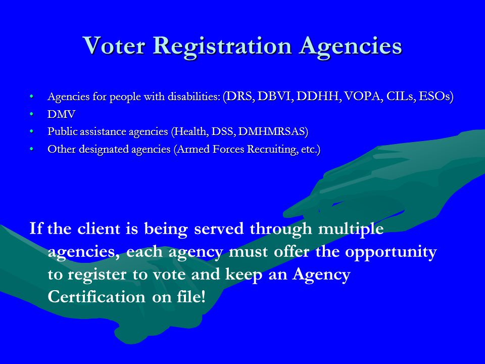 Completing the Voter Registration Application Item 11 - Signature