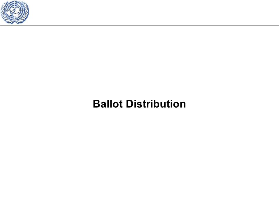 Ballot Distribution