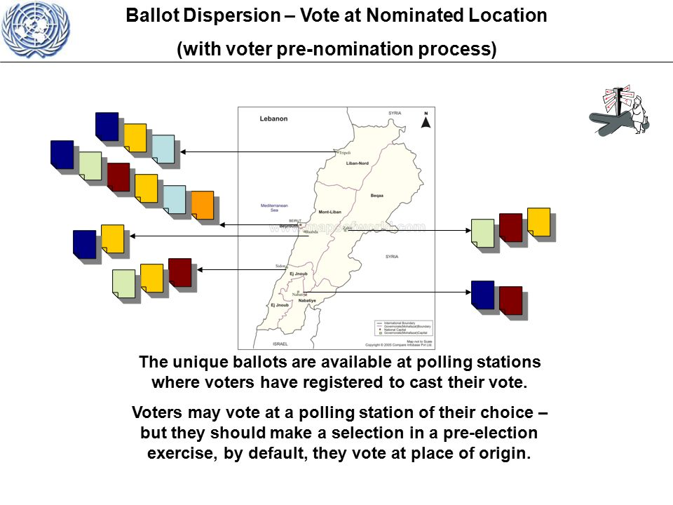 The unique ballots are available at polling stations where voters have registered to cast their vote.