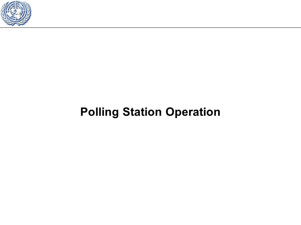 Polling Station Operation