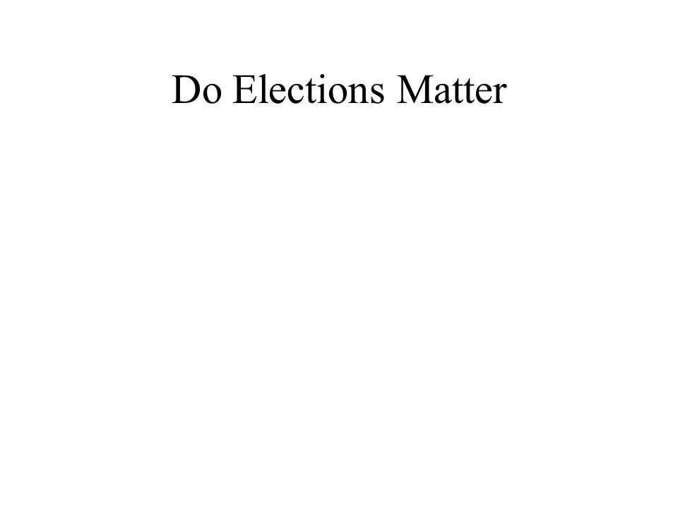 Do Elections Matter