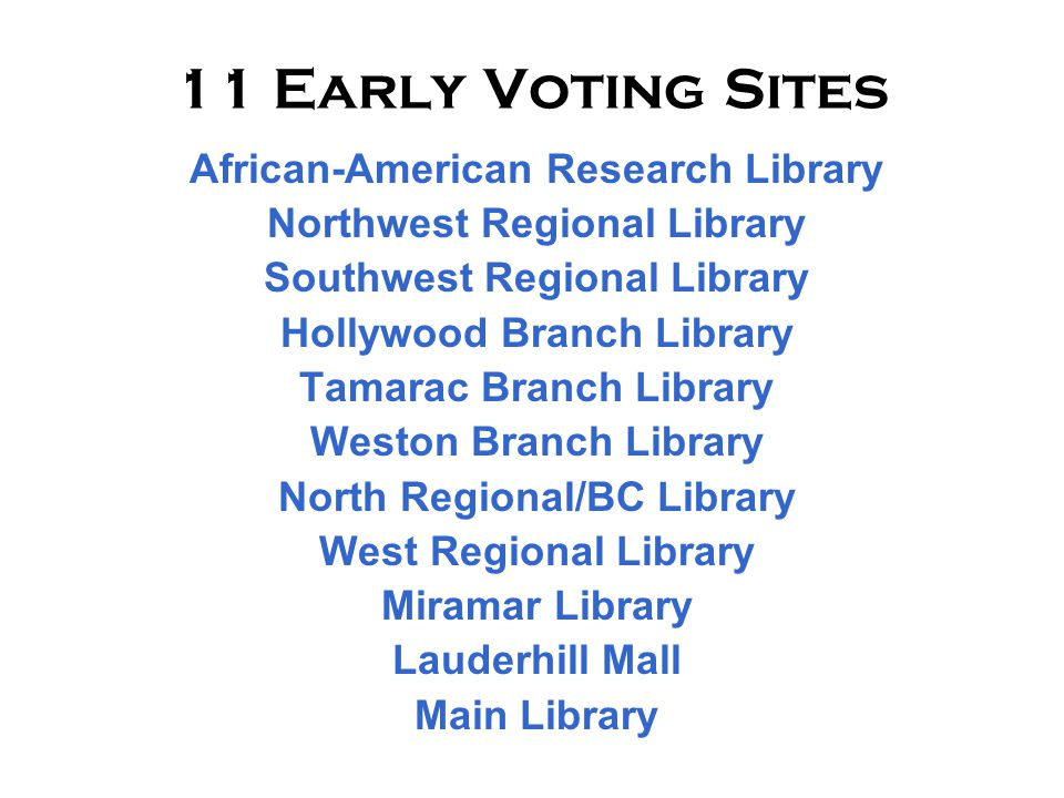Visit the Broward County Supervisor of Elections website for many informative and useful tools for our citizens.