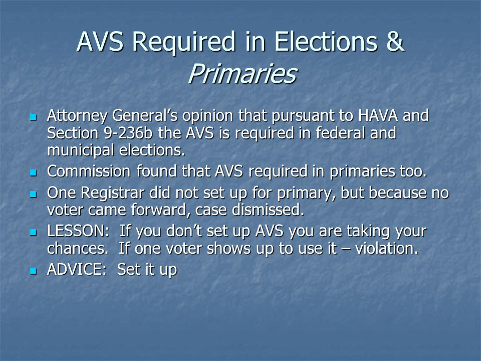 Privacy Sleeves and Election Officials Privacy sleeves must be provided by the Registrars of Voters to the moderator.