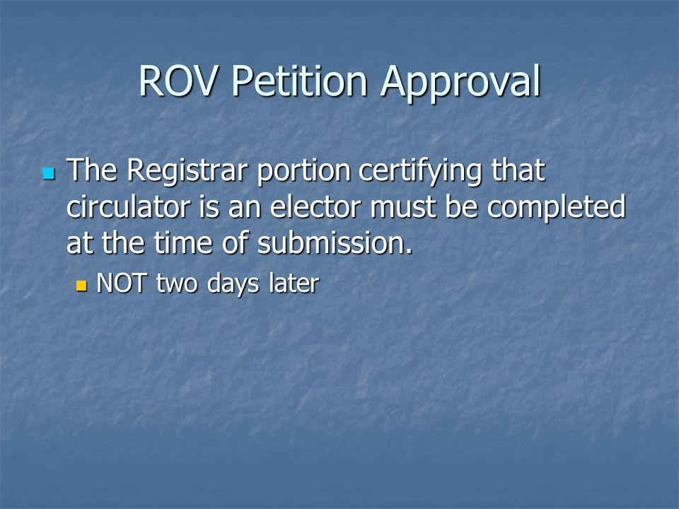 Petition Rejection Conn. Gen. Stat.
