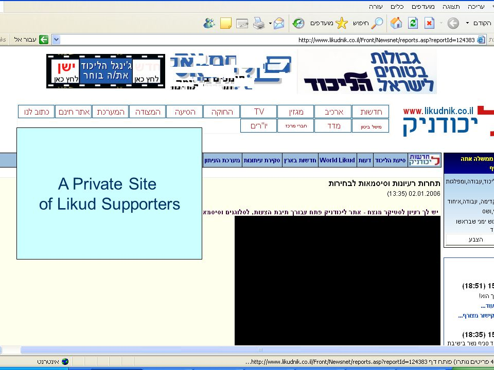 A Private Site of Likud Supporters