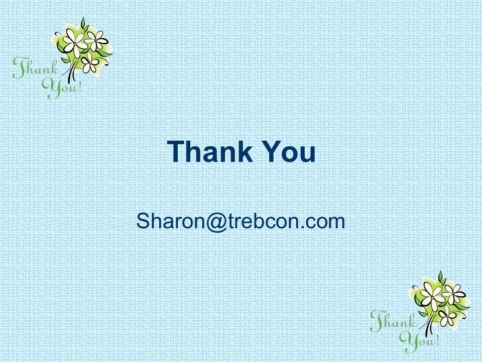 Thank You Sharon@trebcon.com