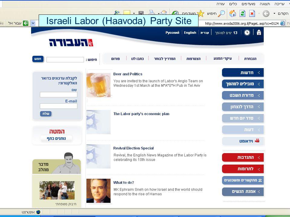 Israeli Labor (Haavoda) Party Site
